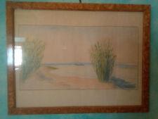 """ELISABETH CHAPLIN - 1940  """" Lago di Bolsena"""" - matite su cartoncino, autenticato"""