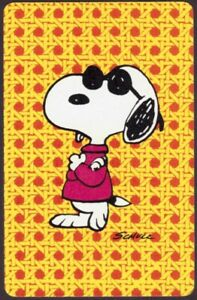 Playing Cards Single Card Old Vintage * Sunglasses SNOOPY Dog * PEANUTS Cartoon