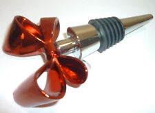WILD EYE DESIGNS WINE STOPPER BOW RED SILVER BLACK NEW