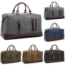 Men Cargo Luggage Handbag Canvas Suede Large Duffle Bag Travel Work Fashion Trip
