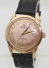 Rare Vintage 35mm Mens Solid 18K Gold 1950's B126 Breitling Transocean Automatic