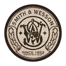 "14"" Round  - Vintage looking Smith And Wesson Gun Metal Sign  Metal Sign"