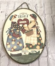 "Vintage Debbie Mumm Flue Cover Oval ""Joined At the Heart"" Friendship Dolls"