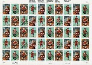 1995 USPS Contemporary Christmas: Santa (50) .32c Full Sheet  Scott #3004-07