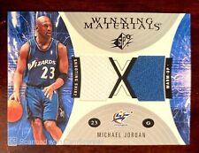 2003/04 UPPER DECK SPX MICHAEL JORDAN WINNING MATERIALS DUAL JERSEY CARD WIZARDS