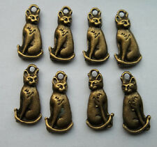 20pcs bronze plated cat charms pendant 21x10 mm