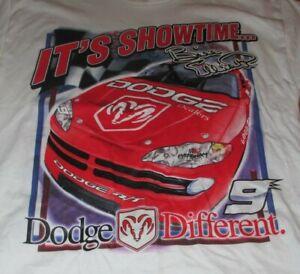 """2001 BILL ELLIOTT No. 9 DODGE Racing Team """"IT'S SHOWDOWN"""" (MED) T-Shirt"""