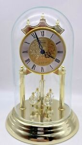 Concordia Anniversary Revolving Pendulum Torsion Clock Glass Dome