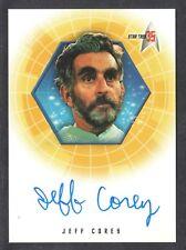 STAR TREK 35th ANNIVERSARY 2001 AUTOGRAPH CARD #A17 JEFF COREY