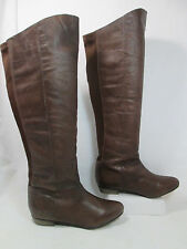 Steve Madden CREATION Leather Over the Knee Fashion Boots Brown Sz 6.5-M EUC!