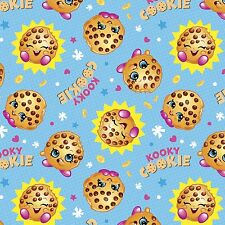 Moose Shopkins Cookie With The Look 100% cotton fabric by the yard