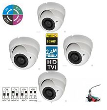4PCS HD TVI 1080P Dome Camera  2.4MP Sony CMOS Varifocal 2.8-12mm Lens 4-IN-1