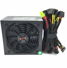 Black 1050W ATX Power Supply 14CM Fan PCIe 6/8 Pin,20/24 Pin,4/8 Pin EPS12V SATA