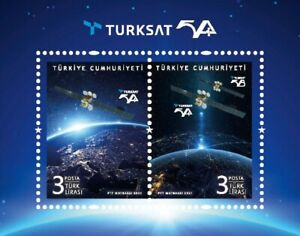 Turkey 2021, Turksat 5a New Turkish Satellite, Space, S/S, mnh