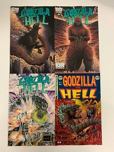 IDW GODZILLA IN HELL #1 : ALL 4 COVERS - REG, SUB, CON, COMIC DUNGEON : VF/NM