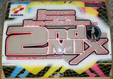 DDR Dance Dance Revolution 2nd Mix Marquee Original Konami Hard Plastic Top Sign