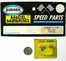 4 Aurora Model Motoring Slot Car Thunderjet ALUMINUM SPEED PARTS WHEEL HUBS 8362