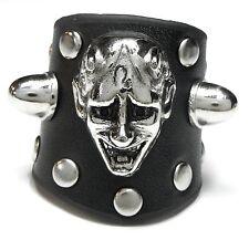 Nuevo cuero 22mm/69 anillo Anillo cuero genuino diablo Devil tachuelas metálicas top Gothic