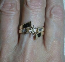 14K YELLOW GOLD DIAMOND RING SEMI-MOUNT - SIZE 6.25  -  LB1499