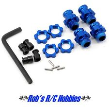 Traxxas 5853X Slash Stampede Rustler 17mm Blue Aluminum Wheels Adapters
