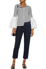 WALTER BAKER Denzel Striped Cotton Button Down Shirt Top Size XS NWT $138