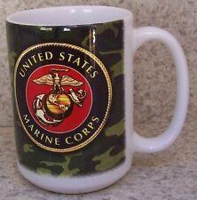 Coffee Mug Military Marine Corps Emblem Logo NEW 14 ounce cup with gift box