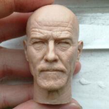 Blank 1/6 Scale Breaking Bad Walter White Bryan Cranston Head Sculpt Unpainted