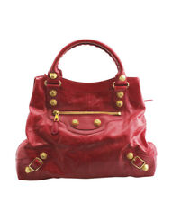 Balenciaga Giant 12 Brief Red Leather Tote