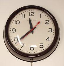 Vintage Bakelite GE General Electric Model 2908 Industrial Shop Electric Clock