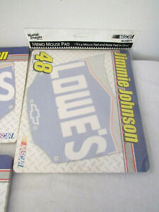 2003 Jimmie Johnson #48 Nascar Memo Mouse Note Pads 1 Brand New 2 Partial Pads