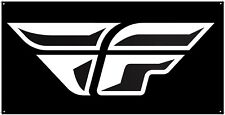 ManCave Shop Track Garage Official Fly Racing F-Wing Banner 3'x6' Black NEW