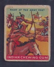 1947 Goudey Indian Gum #48 Fight At The Army Post Non-Sports Card Fair to Good