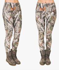 Woodland Camo Hiking Hunting Game Keeper Super Soft High Waist Stretchy Leggings