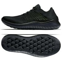 Nike Free RN Flyknit 2018 Black/Anthracite/Volt 942838-002 Men's Running Shoes