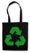 THE BIG GREEN VINTAGE RECYCLE LOGO BANG THEORY SHOPPING COTTON BAG