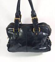 Faith Large Black Leather Handbag 40cm X 30cm