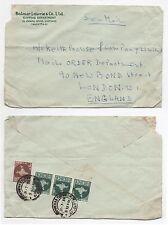 1959 INDIA Cover CALCUTTA to LONDON Commercial BALMER LAWRIE & CO LTD