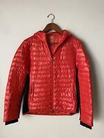 HBC Sport Hudson's Bay Company Women's Size Small Red Jacket Down Hood Pockets