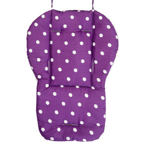 Baby Infant Thick Pushchair Mat Dots Liner Covers Stroller Seat Cushion Cotton