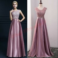 Women Party Cocktail Formal Bridesmaid Wedding Ball Prom Gown Evening Long Dress