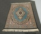 Vintage French Country Turquoise Area Rug
