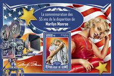 Guinea 2017 MNH Marilyn Monroe 55th Mem 1v S/S Celebrities Movie Stars Stamps