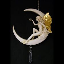 Fairy On The Moon Dream Catcher Hanging Ornament