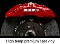 4 Pegatinas sticker aufkleber caliper brake Brabus Mercedes pinzas freno 8 cm