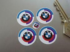 BMW Motorsport Mira Medallón Logo Carreras pegatinas de coches 25mm Juego 4