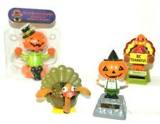 Solar Powered Dancing Toys ~ Two PUMPKINS and Two TURKEYS  ~ Thanksgiving Themed