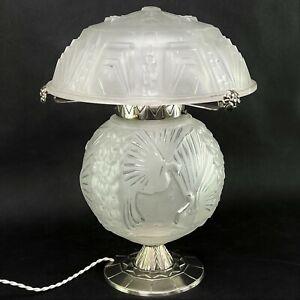 Seltene ART DECO Tischlampe Lampe Muller Freres Luneville desk lamp table