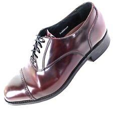 FLORSHEIM Mens Size 9.5 EEE Lexington Burgundy Leather Cap Toe Oxford Shoes
