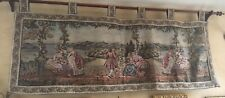"Large Vintage ITALIAN Renaissance TAPESTRY WALL HANGING 88""X36"" Dame Lago"