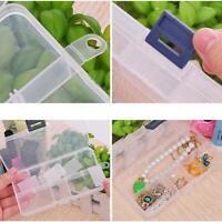 Plastic 15/10/24 Slots Adjustable Jewelry Storage Case Box Organizer_Bead B8E1